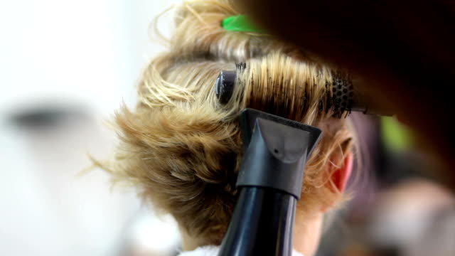 blow dry - hairstyle stock videos & royalty-free footage