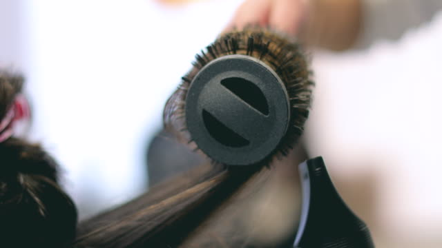 blow dry - hairdresser stock videos & royalty-free footage