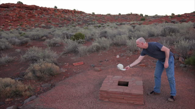 stockvideo's en b-roll-footage met blowhole at wupatki national monument - crevice