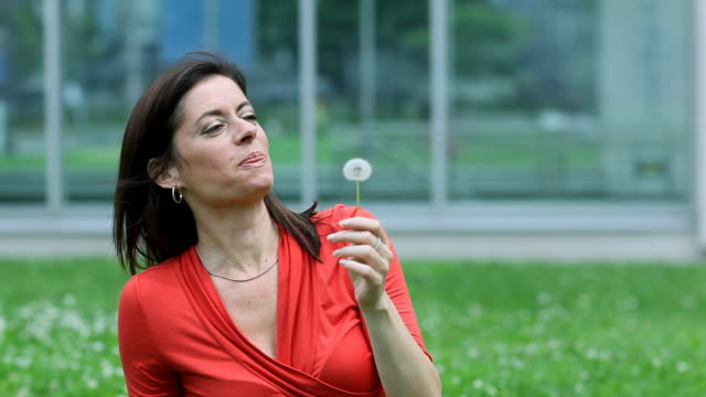 blowing dandelion - holing stock videos & royalty-free footage
