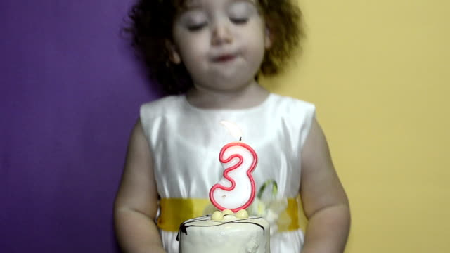blowing out candles, closeup - 2 3 years stock videos & royalty-free footage