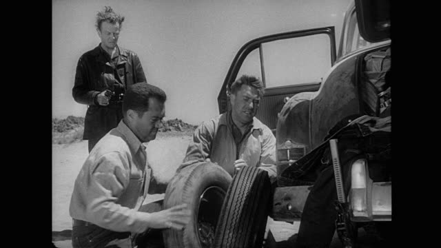 1953 A blowout flat tire during carjacking by hitchhiker murderer