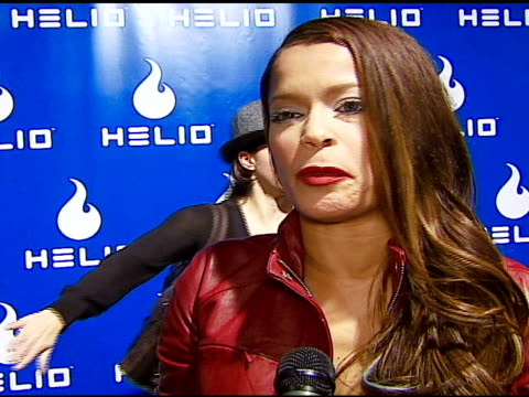 blu cantrell on wedding wishes for tom cruise and katie holmes at the helio drift launch on november 13 2006 - katie holmes stock videos and b-roll footage