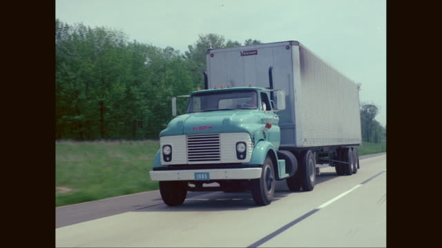 ws pov blue 1965 chevrolet truck moving on road / united states - chevrolet truck stock videos & royalty-free footage