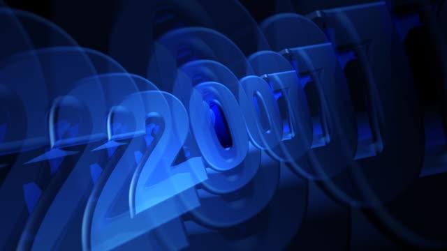 blue 2007 3d-text drehen - 2007 stock-videos und b-roll-filmmaterial