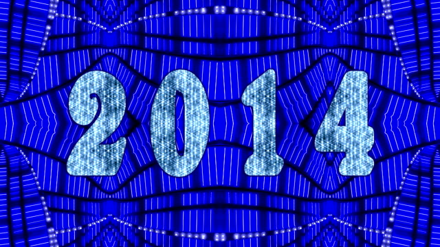 stockvideo's en b-roll-footage met blue 2014 marquee - incandescent bulb