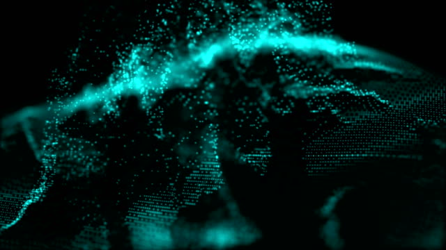 vidéos et rushes de blue abstract digital energy (en) - auréole