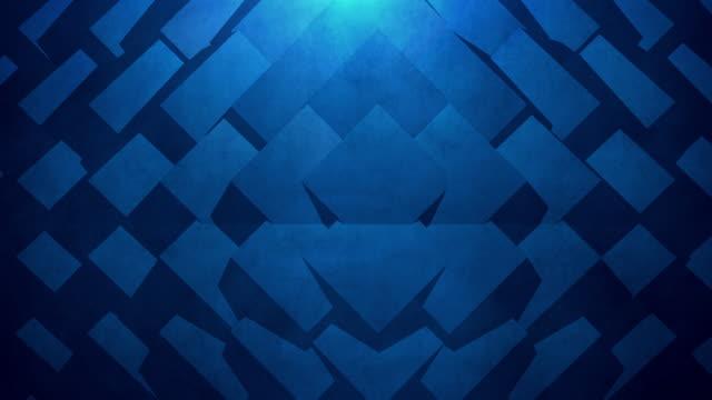 Blue abstract geometrischen Hintergrund. Nahtlose Loop.