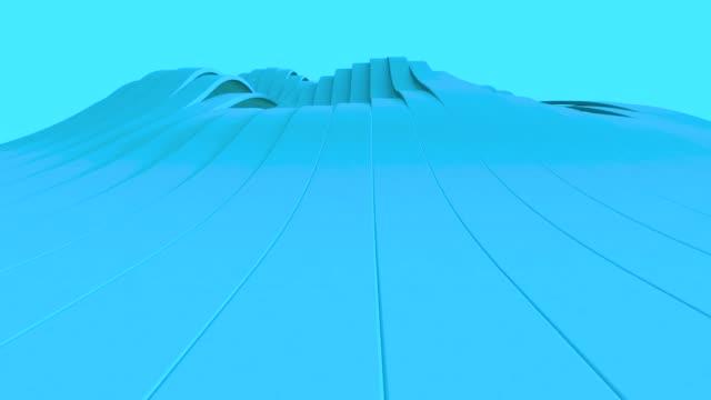 blauen abstrakte geometrische oberfläche, minimale muster, zufällige bewegung hintergrund winken. seamless loop 4 k uhd fullhd. - richtung stock-videos und b-roll-filmmaterial