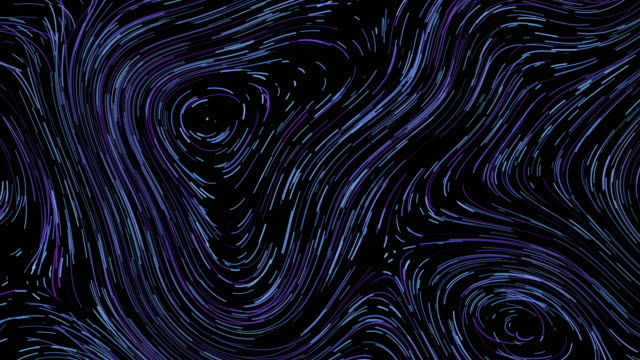 blue abstract line swirl pattern background, van gogh style - line art video stock e b–roll
