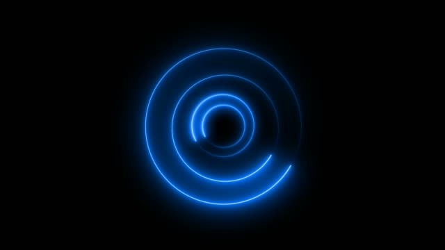 blue abstract loop circle tunnel background - music video stock videos & royalty-free footage