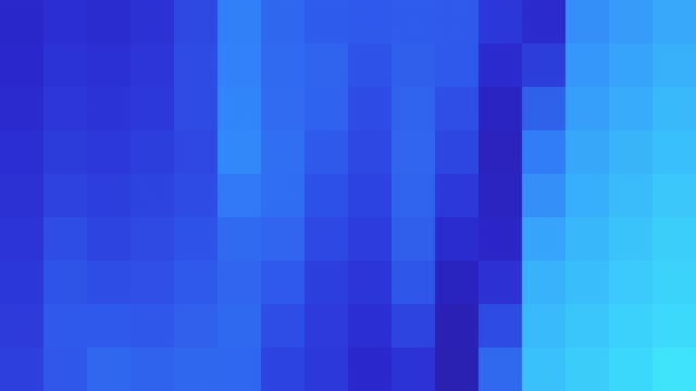 blue abstract pixelated background - square stock videos and b-roll footage