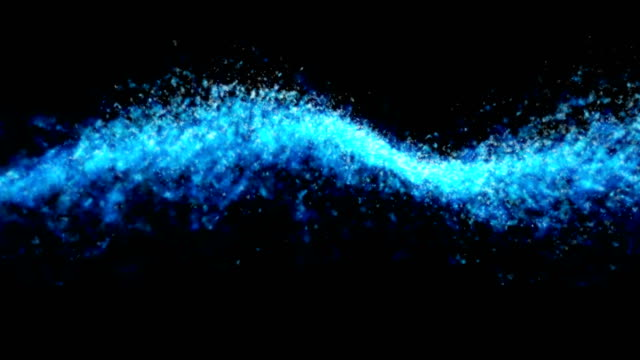 blue abstract swirl on a black background - fade out video transition stock videos & royalty-free footage