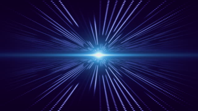 blue abstract technology digital background perspective with light - horizon stock videos & royalty-free footage
