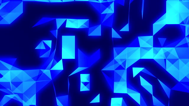 blue abstract technology loopable  background footage with triangles - mosaic stock videos & royalty-free footage