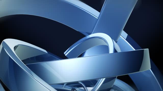 blaue abstrakte trendige moderne illustration hintergrund. geometrische formen. 3d-rendering. - dreieck stock-videos und b-roll-filmmaterial