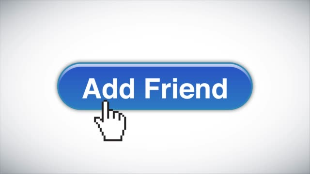 blue add friend web interface button clicked with mouse cursor 4k stock video - cursor stock videos & royalty-free footage