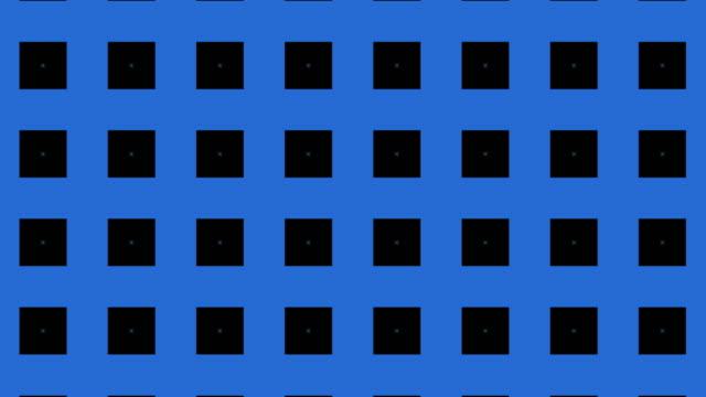 動きの青と黒の幾何学的形状,万華鏡パターン - 投影図点の映像素材/bロール