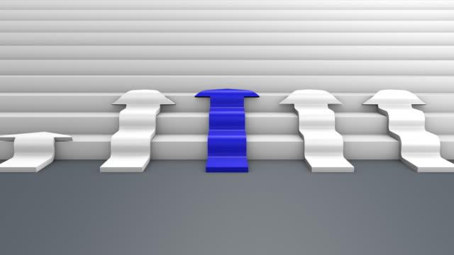 vídeos y material grabado en eventos de stock de azul y blanco las flechas a la parte superior con texto de éxito, render 3d - señal de flecha