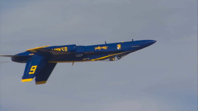 blue angels flying in the sky - acrobatica aerea video stock e b–roll
