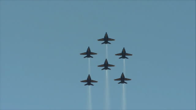 Blue Angels flying in the sky