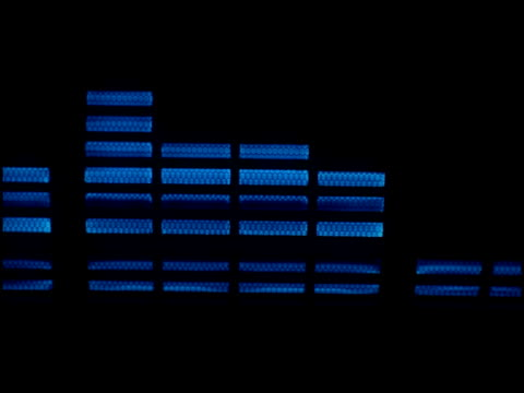stockvideo's en b-roll-footage met ntsc: blue audio equalizers - audio available