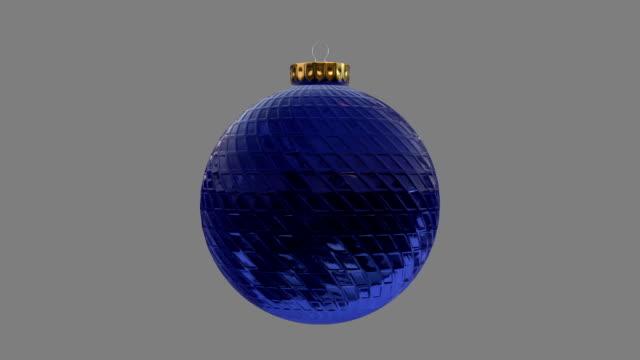 Blue Bauble Christbaumkugel