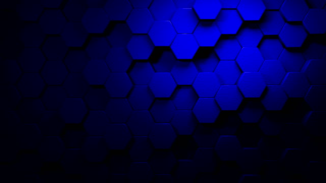 blue beautiful hexagons on surface morphing in seamless 4k abstract motion design background 3d animation for the concepts of technology, communication, transitions, party-social events, celebration events, finance, data, web and mobile - hexagon stock videos & royalty-free footage