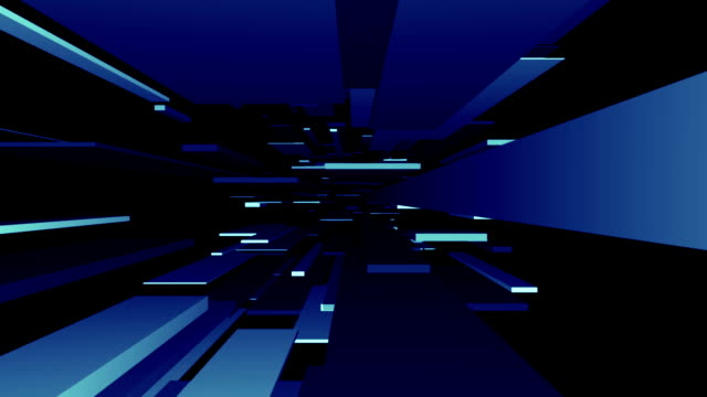 blue blocks tunnel loop/abstrakte futuristisch animation - unendlichkeit stock-videos und b-roll-filmmaterial