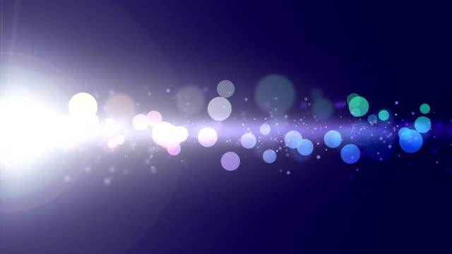 Brilhos de cor azul bokeh