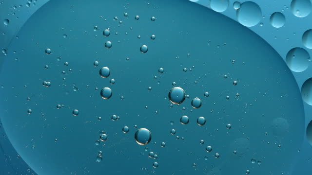 blue bubble color on water abstract background