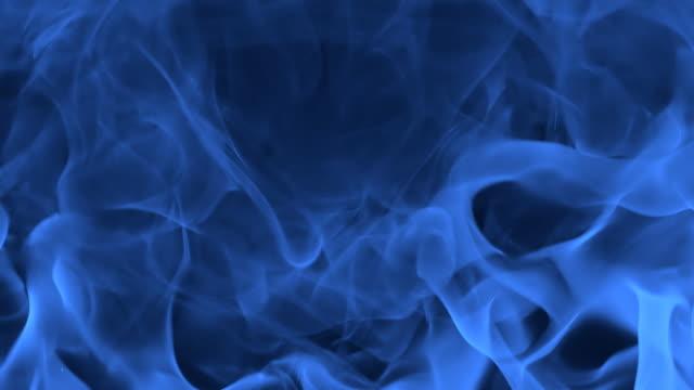 HD SLOW-MOTION: Blue Burning Flame