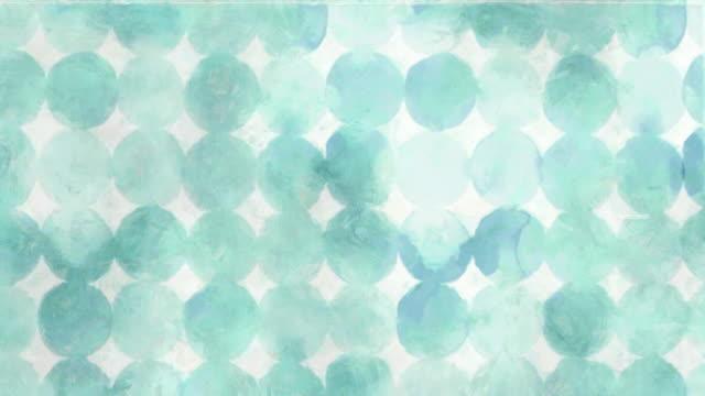 青い円の抽象的な背景 - 水彩点の映像素材/bロール