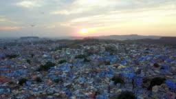 Blue City village In Jodhpur, Rajasthan, India