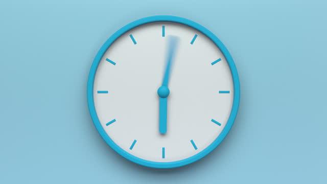 vídeos de stock, filmes e b-roll de laço do relógio azul - 1 minute or greater