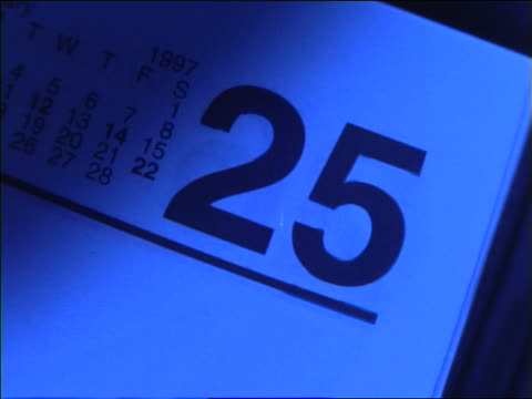 blue close up of calendar pages flipping very fast - month stock videos & royalty-free footage