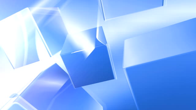 blue cubes-background - block shape stock videos & royalty-free footage