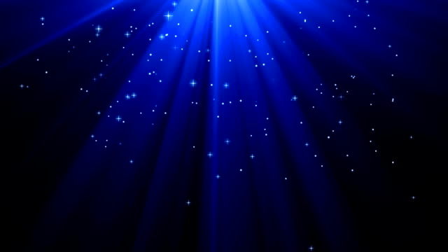 blue deep light rays with star - ethereal stock videos and b-roll footage
