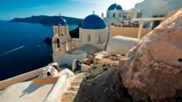Blue Dome Churches, Santorini, Greece
