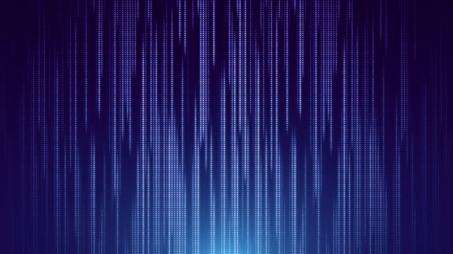 blue dot line falling led abstract background - blue background stock videos & royalty-free footage