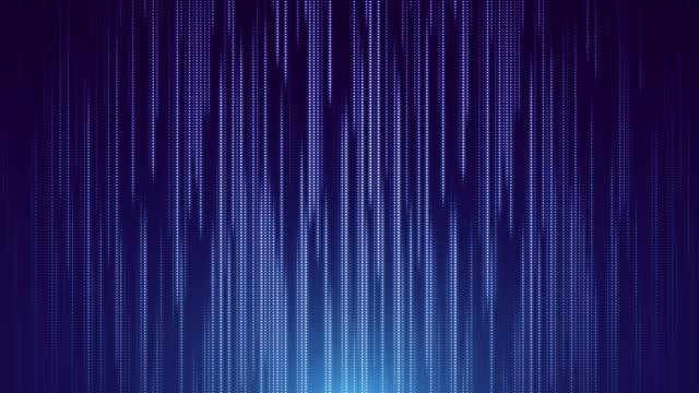 stockvideo's en b-roll-footage met blauwe stiplijn die geleide abstracte achtergrond valt - blauwe achtergrond