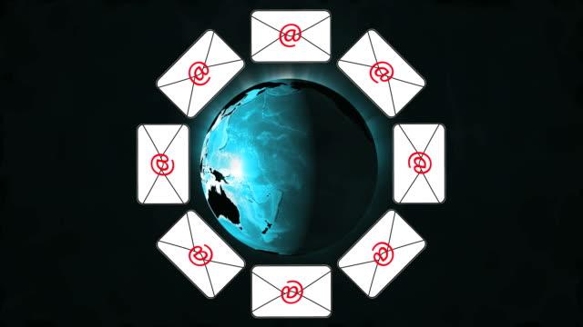 青い地球の e メール - e mail点の映像素材/bロール