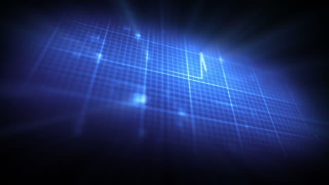 blue ecg on digital background - グラフ点の映像素材/bロール