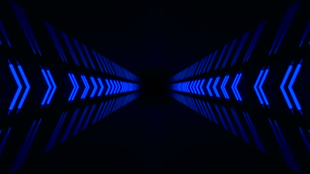 blue endless hallway - stage performance space stock videos & royalty-free footage