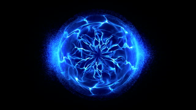Blue energy sphere background