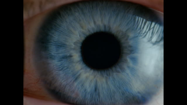 slo mo, ecu, blue eye  - sensory perception stock videos & royalty-free footage