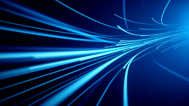 blue fiber optic abstract background (loopable) - dividing line stock videos & royalty-free footage