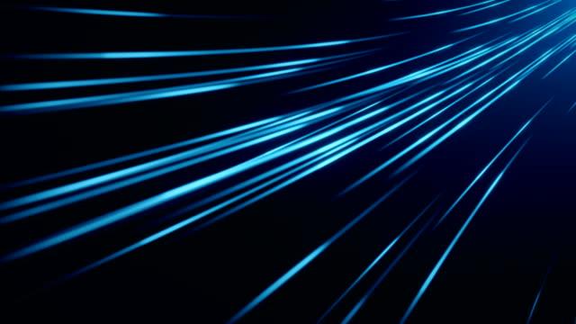 stockvideo's en b-roll-footage met blauwe vezel optische abstracte achtergrond (loopable) - wegmarkering
