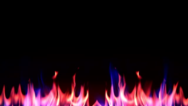 blue fire on black background in slow motion - fireball stock videos & royalty-free footage
