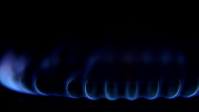 Blue Flame From Gas Cooker